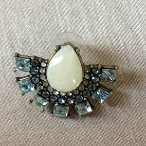 Blue Stone Stud Earrings